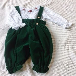 Woah! Vintage Velour Holiday Outfit 100% Cotton.